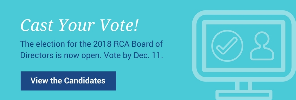 Cast Your Vote for the 2018 RCA Board