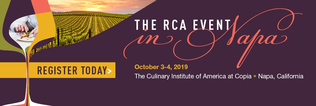 Register Today for the RCA Event in Napa
