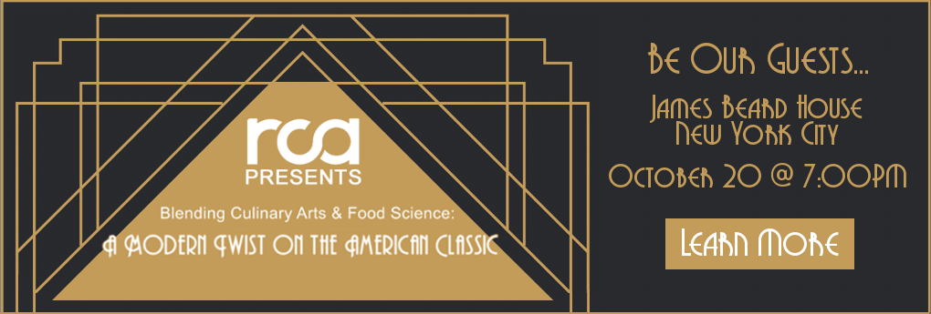 Join us on October 20 at the James Beard House for the Blending Culinary Arts & Food Science: A Modern Twist on the American Classic event