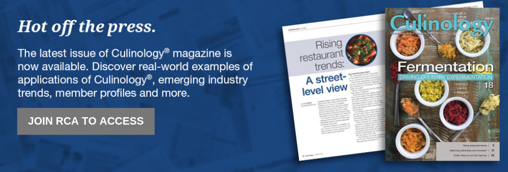 Join RCA to Access Culinology magazine